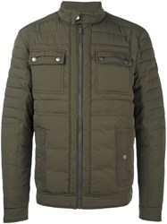Calvin Klein Jeans Quilted Multi Pocket Jacket Green