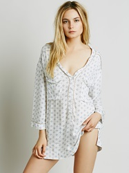 Free People Hang Time Sleep Shirt Tea