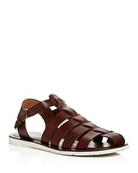 Kenneth Cole 4 Reel Strappy Fisherman Sandals Brown