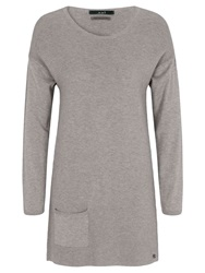 Oui Pocket Knit Long Top Taupe