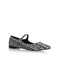 Kurt Geiger Kingdom Flat Sandals Black White
