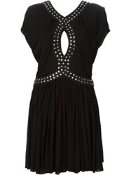Jay Ahr Studded Cut Out Dress Black