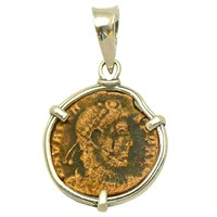 Ancient Treasures Sterling Silver Ancient Roman Coin Pendant
