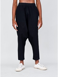 Oak Dropped Crotch Panel Pant Black Oak