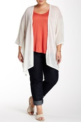 14Th And Union Knit Kaftan Cardigan Plus Size White