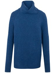 Fat Face Rochester Roll Neck Jumper Cobalt