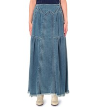 Chloe Denim Maxi Skirt Light Blue Denim