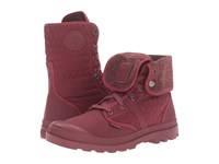 Palladium Pallabrouse Bgy Felt Cabernet Vapor Lace Up Boots Red