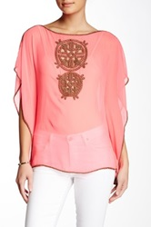 Julie Brown Evie Tunic Blouse Pink