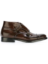 Silvano Sassetti Monk Boots Brown