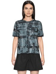 M Missoni Viscose Cotton Jacquard Knit Top