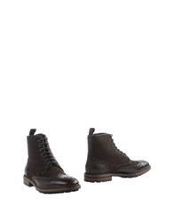 Boss Black Ankle Boots Dark Brown