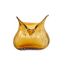 Magpie The Modern Home Edie Owl Vase Amber