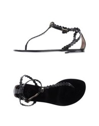Betty Blue Thong Sandals Black