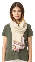 Tory Burch Signature Scarf Ivory