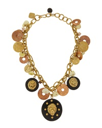 Ashley Pittman Bronze Lion And Coin Charm Necklace