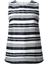 Red Valentino Striped Tank Top Blue