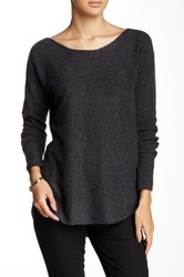 14Th And Union Hi Lo Cashmere Sweater Gray