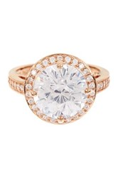 Savvy Cie 14K Rose Gold Vermeil Cz Halo Ring Multi