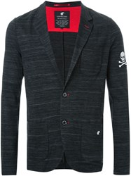 Loveless Knit Two Button Blazer Black