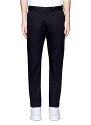 Maison Kitsune Cotton Chinos Black