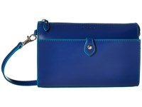 Lodis Audrey Vicky Convertible Crossbody Clutch Marine Ivy Clutch Handbags Blue
