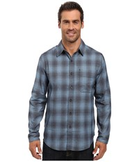 Royal Robbins Performance Flannel Ombre Long Sleeve Shirt Blue Stone Men's Clothing