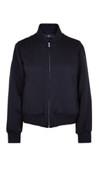 Tibi Double Face Satin Cropped Bomber