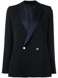 Paul Smith Double Breasted Tuxedo Blazer Black