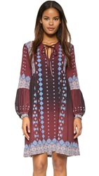 Clover Canyon Embroidered Ombre Dress Wine