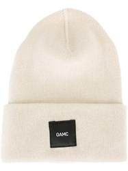 Omc Logo Patch Beanie Nude And Neutrals