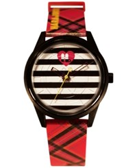 Harajuku Lovers Unisex Animal Print Designed By Gwen Stefani Printed Polyurethane Strap Watch 40Mm Hl2612 Red