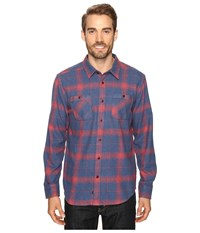 Quiksilver Go Forth Ensign Blue Men's Long Sleeve Button Up