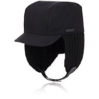 Prada Men's Trapper Hat Black Blue Black Blue