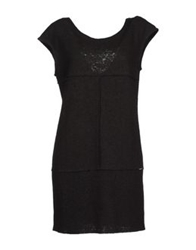 H. Eich Short Dresses Black
