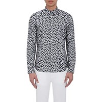 Paul Smith Ps By Men's Heart Print Shirt Grey