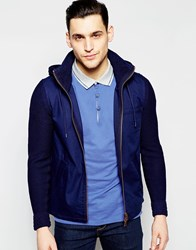 Boss Orange Jacket With Knitted Sleeves 0.0000 Navy