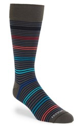Men's Hook Albert Multi Stripe Socks Grey Global Grey