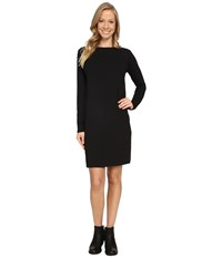 Nau Elementerry Boat Neck Dress Caviar Women's Dress Black