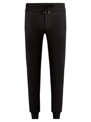 Frescobol Carioca Slim Leg Stretch Cotton Track Pants Black