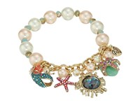 Betsey Johnson Betsey The Sea Pearl Stretch Bracelet Multi Bracelet
