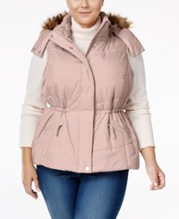 American Rag Trendy Plus Size Faux Fur Trim Puffer Vest Only At Macy's Blush