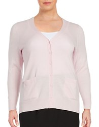 Lord And Taylor Plus Button Front Merino Wool Cardigan Sweetpea