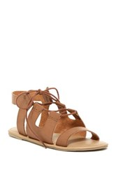 Mia Delpine Lace Sandal Brown