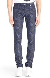 Men's Kenzo 'Printed Heads' Straight Leg Jeans