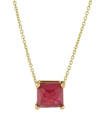 Ippolita 18K Rock Candy Mini Single Square Sliding Composite Ruby Pendant Necklace Women's