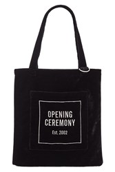 Opening Ceremony Oc Velour Eco Bag Black