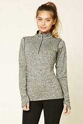 Forever 21 Active Graphic Pullover Charcoal Black