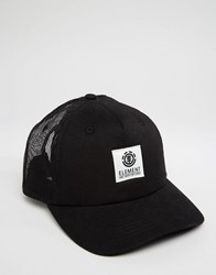 Element Cap Icon Mesh Trucker Black