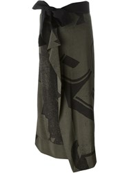 A.F.Vandevorst Wrap Skirt Green